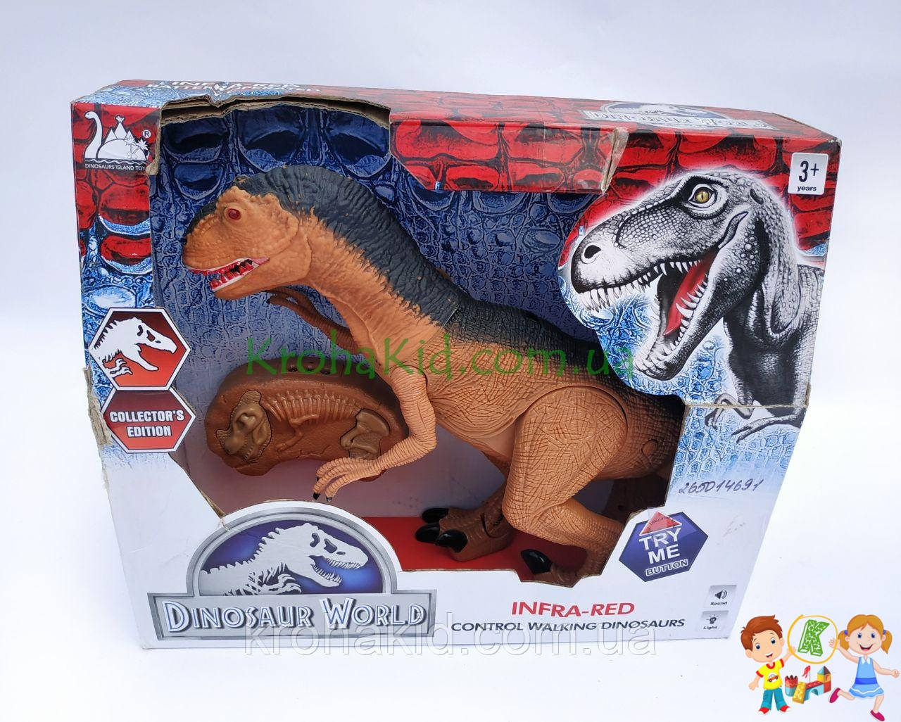Игрушка динозавр RS6122 тиранозавр на радиоуправлении со ЗВУКОМ и СВЕТОМ