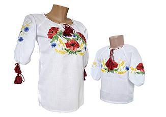 Сорочка Вишиванка дитяча домоткана для дівчаток Мама і донька р. 92 - 140