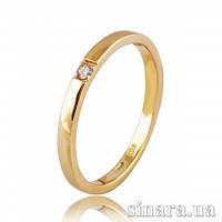 Золотое кольцо с бриллиантом 30787
