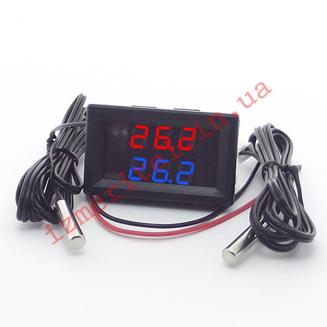 Цифровой термометр с двумя датчиками -50...+125 °С