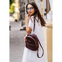 Кожаный женский мини-рюкзак Kylie Марсала, фото 1