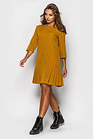 Платье К 00533 с 04 горчичный 48