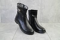 Женские ботинки кожаные зимние черные Dali 55k