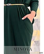 """Модное женское платье с рукавом """"летучая мышь"""" батал с 54 по 60 размер, фото 2"""