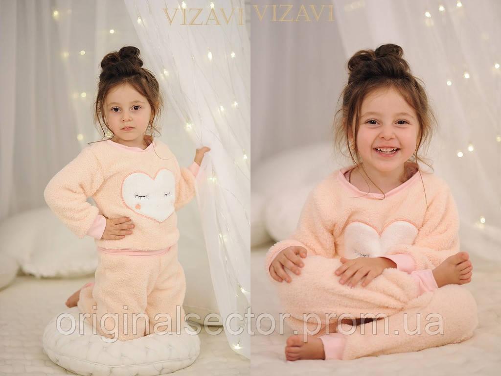 Детская махровая пижама с сердцем