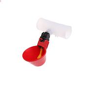 Чашечная поилка для кур с соединителем для трубы 20 мм, фото 1