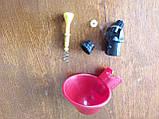 Поїлка чашкова для курей із з'єднувачем для труби 20 мм, фото 10