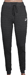 Спортивные штаны женские на манжете nike 40-48 (деми)