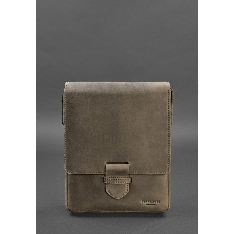 Мужская кожаная сумка-мессенджер Esquire темно-коричневая