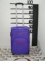 Тканевый чемодан с плотной тканью 1200DEN металлическим каркасом на 2-х колесах FLY голубой (маленький)