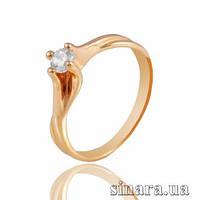 Золотое кольцо с цирконием 11491