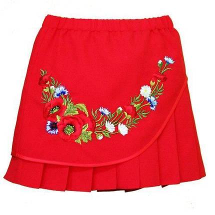 Спідниця вишита, для дівчинки червона, фото 2