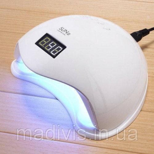 Профессиональная led-лампа для сушки гелей и гель лаков SUN 5 48 вт + lcd