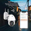 Besder BES-P08 поворотная погодозащитная IP WiFi камера1080P Onvif. YCC365 Plus, фото 5