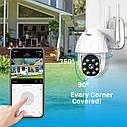 Besder BES-P08 поворотная погодозащитная IP WiFi камера1080P Onvif. YCC365 Plus, фото 4