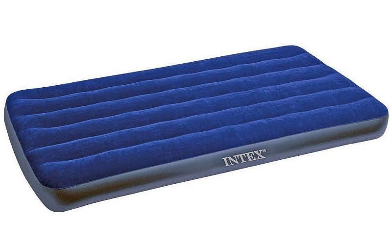 Надувний велюровий одномісний матрац Intex 68757