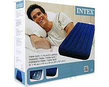 Надувний велюровий одномісний матрац Intex 68757, фото 2