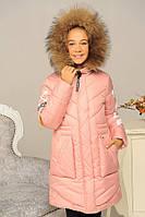 Зимнее пальто для девочек Софи