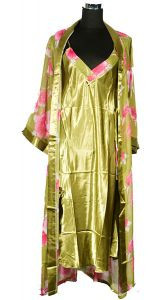 Сорочка на бретельках и халат