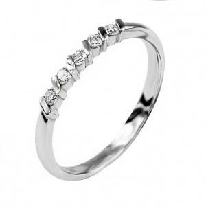 Кольцо дорожка из белого золота с бриллиантами 27256