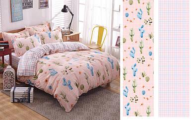 Двуспальный комплект постельного белья евро 200*220 сатин (12399) TM КРИСПОЛ Украина