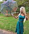Зонт Unicorn Единорог Хамелеон розовый (полу-прозрачный) белый, фото 4