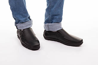 Мужские мокасины кожаные осенние 40-45 чёрный