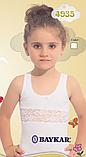 """Майка белая для де5евочек """"Гламур"""" ТМ Baykar, Турция оптом р.6 (158-164 см) ост. 1 шт, фото 2"""