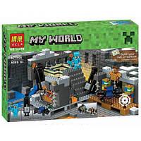 Конструктор Bela 10470 Портал в край Minecraft (аналог Lego Майнкрафт 21124), 577 деталек