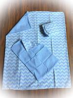 Детское сменное постельное бельё в кроватку ТМ Bonna Голубое
