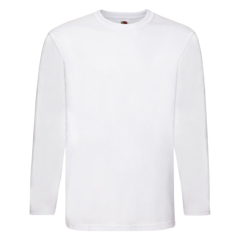 Мужская футболка Super Premium Long Sleeve T (Цвет: Белый; Размер: 2XL)