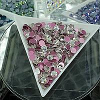 Стразы ss16 Crystal PREMIUM (4,0мм) 1440шт розовая подложка