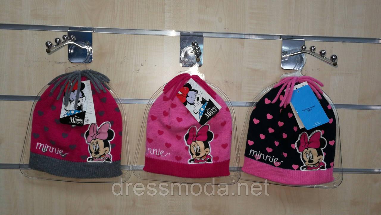 Шапки для девочек Minnie 52-54см