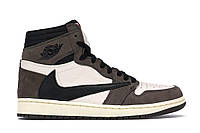 Мужские кроссовки Nike Air Jordan 1 Retro High x Travis Scott (найк аир джордан 1 ретро)