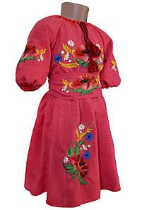 Сукня Вишиванка для дівчинки льон Мама і Донька р. 98 - 146