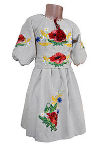 Сукня Вишиванка для дівчинки лляне Мама і Донька р. 98 - 146