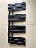 Чорний матовий полотенцесушитель ANTIBES 12/1130 S 1130*500
