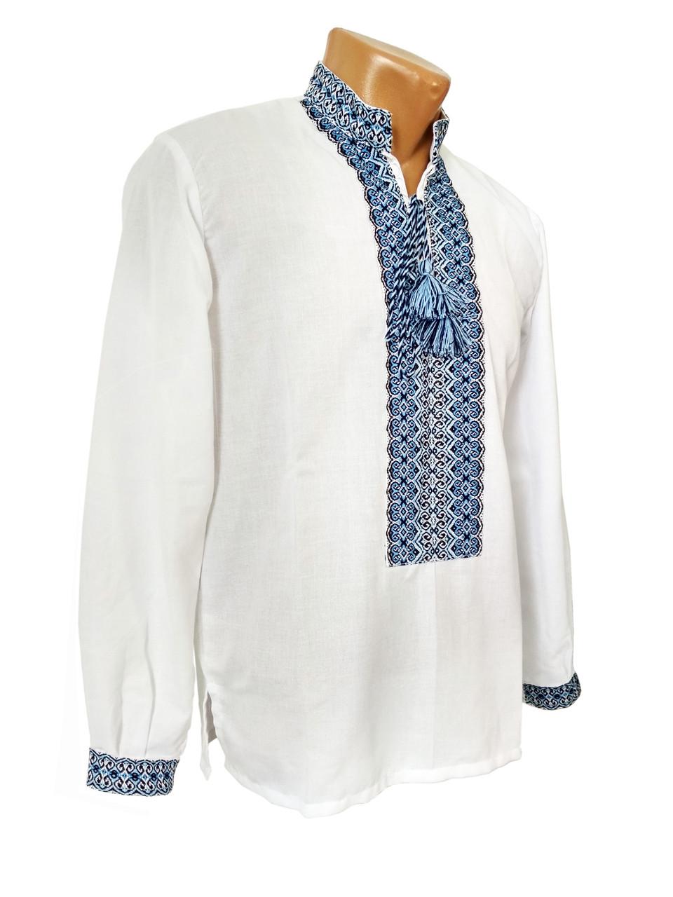 Рубашка Вышиванка мужская на домотканом хлопке р. 42 - 60