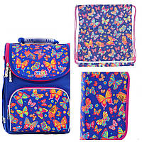 Набор рюкзак школьный 555908, пенал 532051, сумка 556104 1 Вересня Smart Butterfly dance для девочки