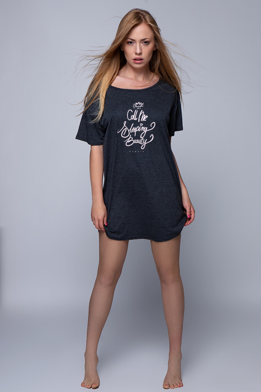 Женская ночная рубашка серый Sensis Call Me