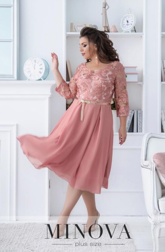 Ніжне плаття з гипюровым ліфом від Minova Розміри 50,52,54,56