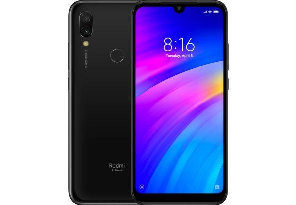 Смартфон с мощной батареей и двойной камерой с распознованием лица с 4G 3/32Gb Xiaomi Redmi 7