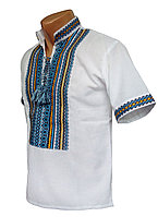 Мужская Рубашка Вышиванка  на домотканом хлопке р. 42 - 60