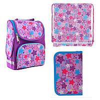 Набор рюкзак каркасный 555914, пенал 532016, сумка 556076 1 Вересня Smart PG-11 Funny Stars для девочки