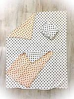 Детское сменное постельное бельё в кроватку ТМ Bonna Белое Горошек