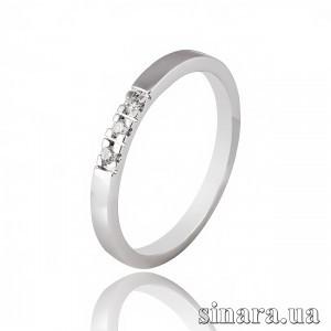 Кільце з білого золота з діамантами 7115