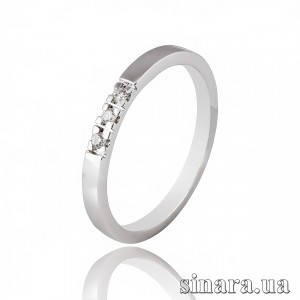 Кольцо из белого золота с бриллиантами 7115