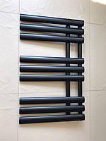 Чорний матовий полотенцесушитель GRASSE 9/820 S 820*500