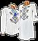 Мужская Рубашка Вышиванка  на домотканом хлопке Для пары р. 42 - 60, фото 5