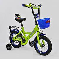 """Велосипед 12"""" дюймов 2-х колёсный G-12042 """"CORSO"""", ручной тормоз, звоночек, сидение с ручкой, дополнительные к"""